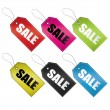 Sale tags set — Stock Vector