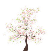 Spring apple tree — Stock Vector