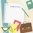 Vector de stock : School notes