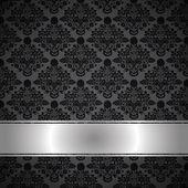 Luxe zwarte achtergrond — Stockvector