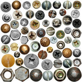 Screws head collection — Foto Stock