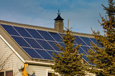 Residential solar power — Stock Photo