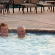 Royalty-Free Stock Photo: Hot tub seniors