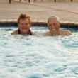 Royalty-Free Stock Photo: Seniors in the Hot tub