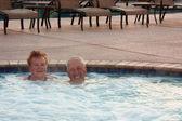 Hot tub seniors — Stock Photo