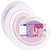 A lot of 500 euro — Stock Photo