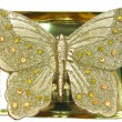 Spa bronze candle butterfly shape — Stock Photo