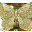 Foto de Stock  : Spbronze candle butterfly shape