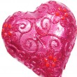 Pink sparomcandle heart shape — Stock fotografie #10038110