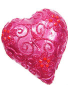 Pink spa aroma candle heart shape — Stock Photo