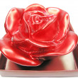 Red candle rose flower shape — Stock Photo