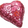 Stock Photo: Pink candle heart shape
