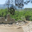 Panorama of ruins of ancient theater phaselis turkey - ストック写真