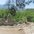 Panorama of ruins of ancient theater phaselis turkey - Lizenzfreies Foto