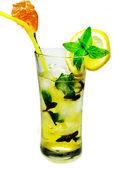 Alcohol liqueur cocktail with mint — Stock Photo
