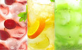 Fruit cold lemonade assortment — Stock Photo