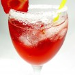 Alcohol liqueur punch cocktail with strawberry — Stock Photo #10164530