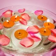 Spa candles flowers — Stock Photo #10164827