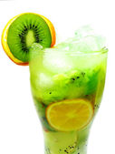 Fruit cocktail smoothie with kiwi — Stock Photo