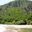 Beach landscape olympos turkey — Stock Photo