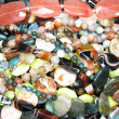 Heap of colorful semigem beads — Stock Photo