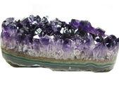 Amethyst geode crystals semigem — Stock Photo