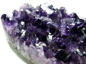 Amethyst semigem crystals geode — Stock Photo