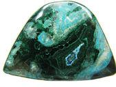 Krizokol semigem mineral kristal — Stok fotoğraf