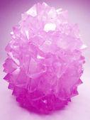 Różowy kwarc kryształów geologiczne — Zdjęcie stockowe