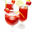 Alcohol liqueur cocktail punch with strawberry — Stock Photo #10332034