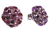 明るい結晶と宝石リング — ストック写真