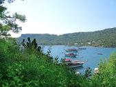 Bay landscape view of sea coast — Stockfoto