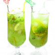 Two kiwi smootjie drinks — Stock Photo