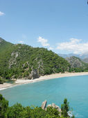 Beach landscape olympos panorama — Stock Photo