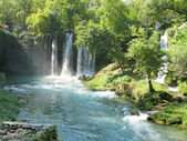 Waterfall duden antalya turkey — Stock Photo