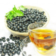 Stock Photo: Fruit tewith currant extract