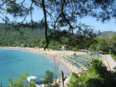 Beach landscape kemer resort turkey — Stock Photo