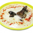 Vegetable cream soup with mushrooms — Stock Photo