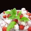 Wild strawberry fruit dessert — Stock Photo