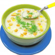 Tasty vegetable cream soup — Stock Photo