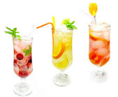 Set of juice lemonade drink — Stock Photo