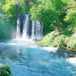 Panorama of waterfall duden turkey — Stock Photo