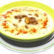 Stock Photo: Vegetable cream soup with mushrooms