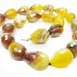 Stock Photo: Yellow agate precious beads