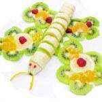 Creative fruit dessert — Stock Photo