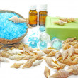 Royalty-Free Stock Photo: Spa candles sea shells and salt