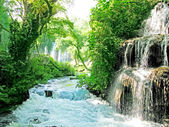Waterfall cascade duden turkey — Stock Photo