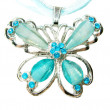 Stock Photo: Jewelry pendant butterfly shape