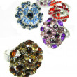 Jewelry rings with bright crystals — Stok Fotoğraf #10537649