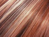 Red highlight hair texture background — Stock Photo